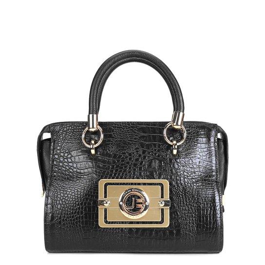 cc340344d Bolsa Couro Jorge Bischoff Handbag Croco Feminina - Preto - Compre ...