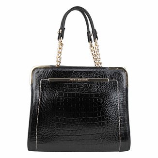 131788e65c Bolsa Couro Jorge Bischoff Handbag Croco Feminina