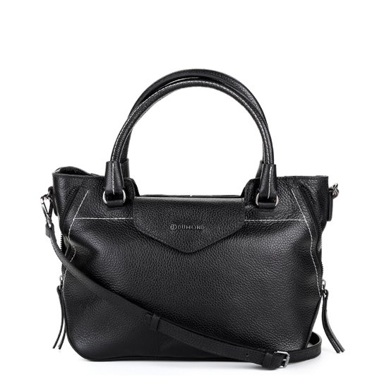 8dfb9c32f Bolsa Dumond Handbag Alça Transversal Feminina - Preto - Compre ...