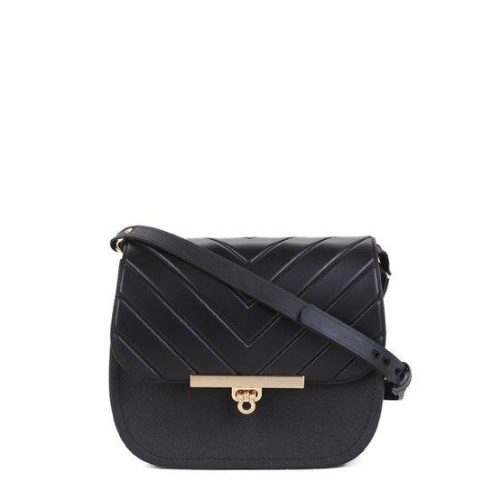 ea07793a4 Bolsa Couro Dumond Mini Bag London Feminina - Preto | Zattini