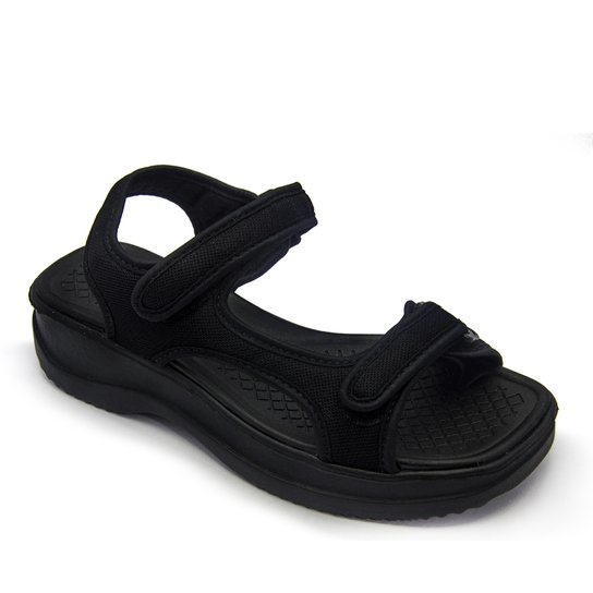 1c46139a3b Sandália Azaleia Velcro - Preto - Compre Agora