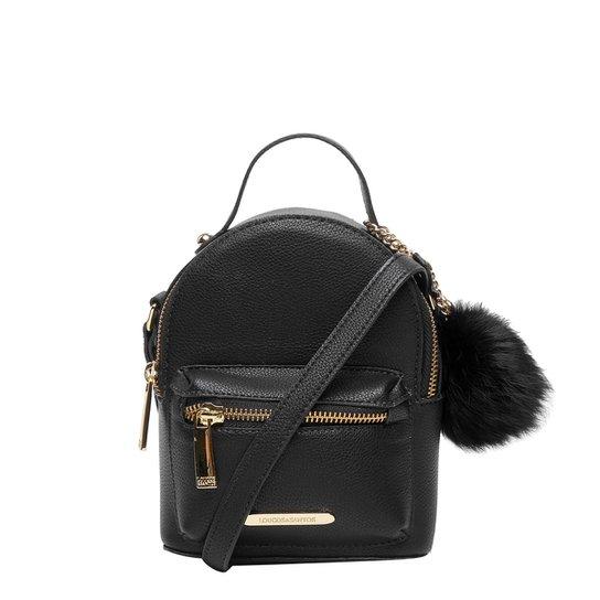 Bolsa Loucos   Santos Mini Bag Mochila Pompom Feminina - Compre ... 2d061c766b7