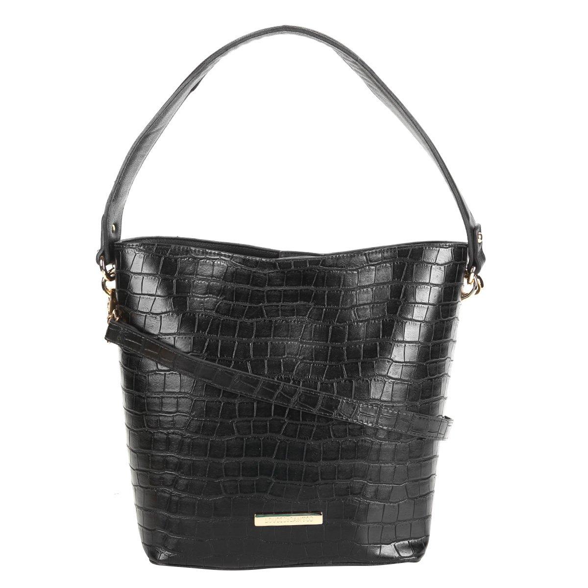 702199232 Bolsa Loucos & Santos Handbag Croco Plaquinha Feminina