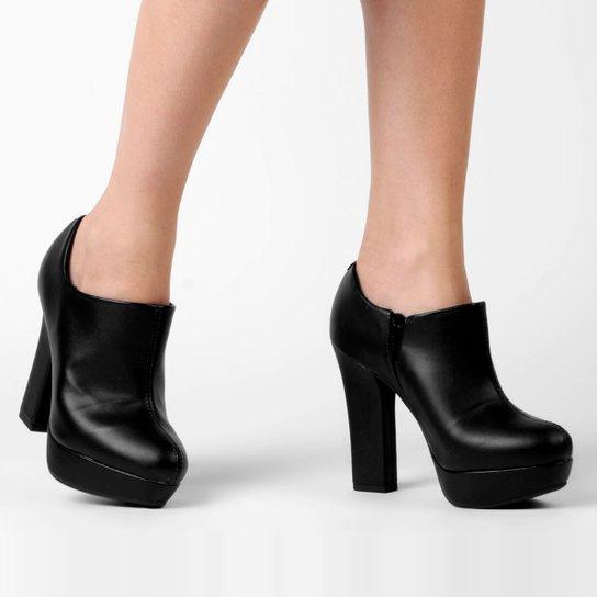 9bb948b93f Ankle Boot Vizzano Meia Pata Salto Grosso - Compre Agora