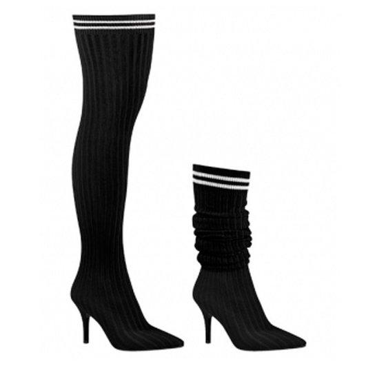 88a67b1ae Bota Over The Knee Bico Fino Feminina Vizzano Meia - Compre Agora ...