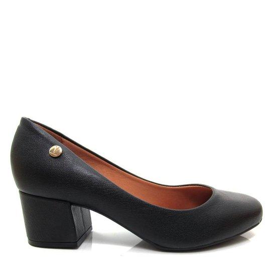 63f99879e2 Sapato Scarpin Feminino Vizzano Bico Redondo - Preto