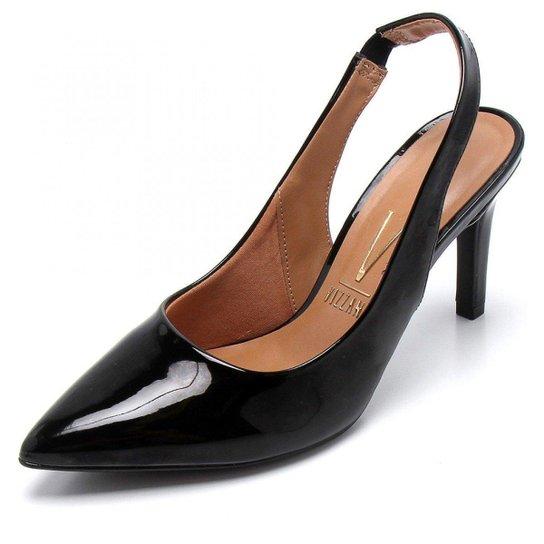 8cfce83a02 Scarpin Chanel Vizzano Verniz Feminino - Preto - Compre Agora
