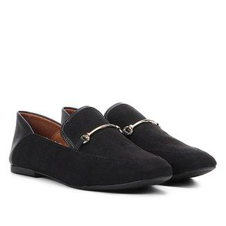 0b7340212 Mocassim Vizzano Detalhe Metalizado Loafer Feminino