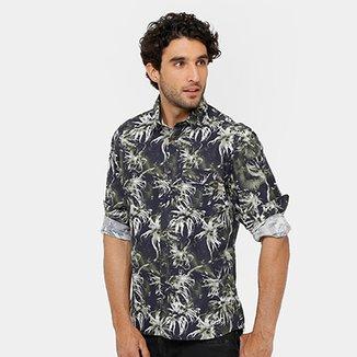 8fc0d870b Camisa Triton Full Print Tropical Masculina