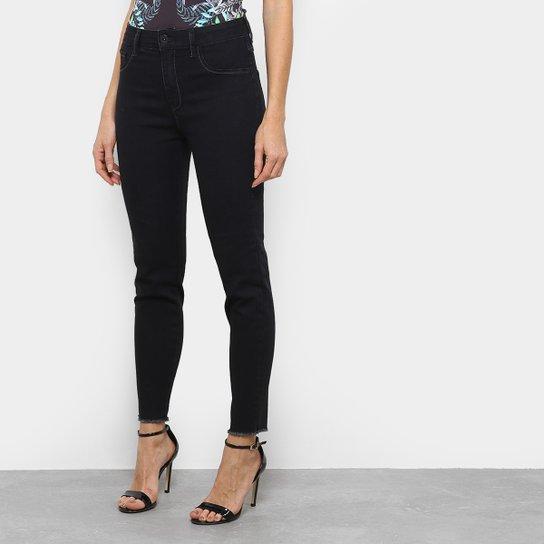 18330c4ec Calça Jeans Cigarrete Triton Michelle High Cintura Média Feminina - Preto