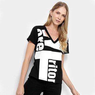 a983517dde Camiseta Triton Gola V Maxi Letters Feminina