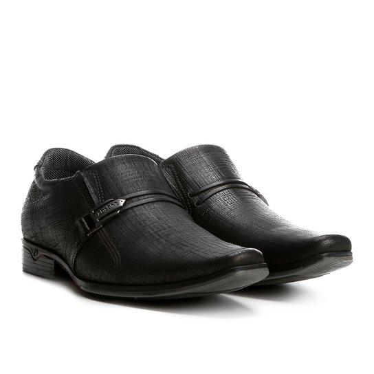 31672eb7b Sapato Casual Couro Pegada Textura Masculino - Preto - Compre Agora ...