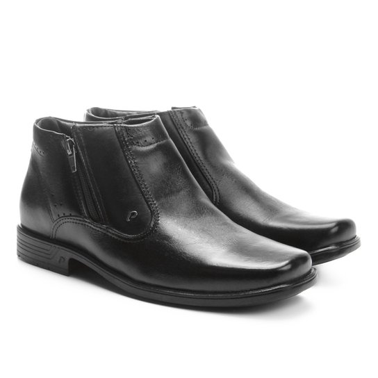 1fc8bce75 Sapato Social Couro Pegada Perfuros Masculino - Preto | Zattini