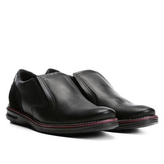 dc19d09ca Sapato Social Couro Pegada Sem Cadarço Masculino - Preto | Zattini