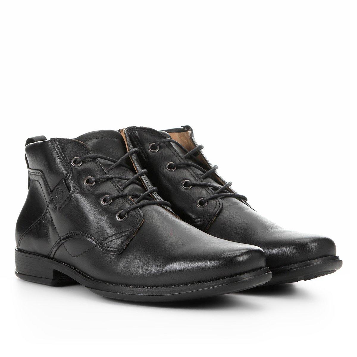Sapato Social Couro Pegada Cano Médio Masculino