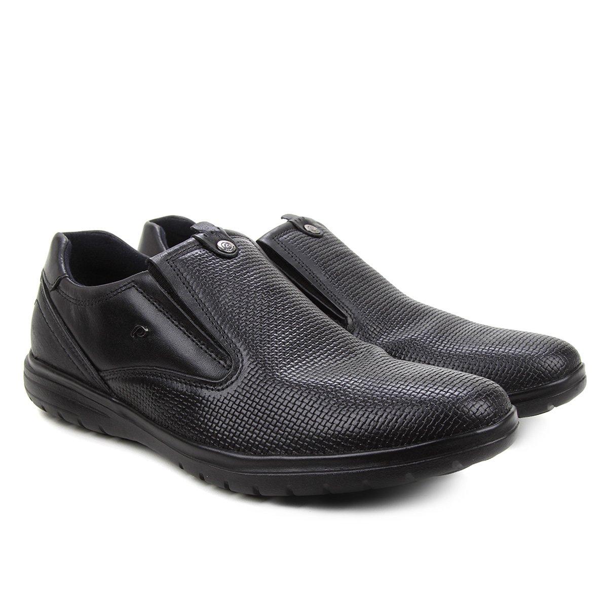 Sapato Casual Couro Pegada Sem Cadarço Masculino
