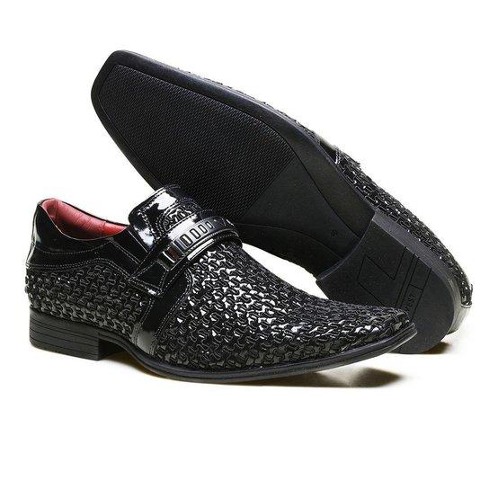 0482a243f5 Sapato Social Calvest Couro Verniz e Textura Asti Masculino - Compre ...