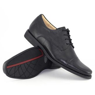 f0ac5a0ff Sapato Social Couro Anatomic Gel Black Tie Masculino