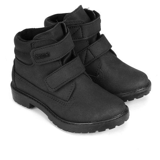 368f6094730 Bota Infantil Couro Coturno Klin Baby Rock Velcro Masculina - Compre ...