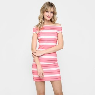 0b9905f93 Compre Vestido Ombro a Ombro Listra Sortby Menor Preco Online
