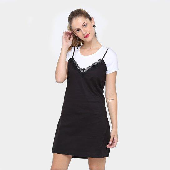 e1eda8e5b Vestido Colcci Curto Sleep Dress Sobreposto - Preto - Compre Agora ...