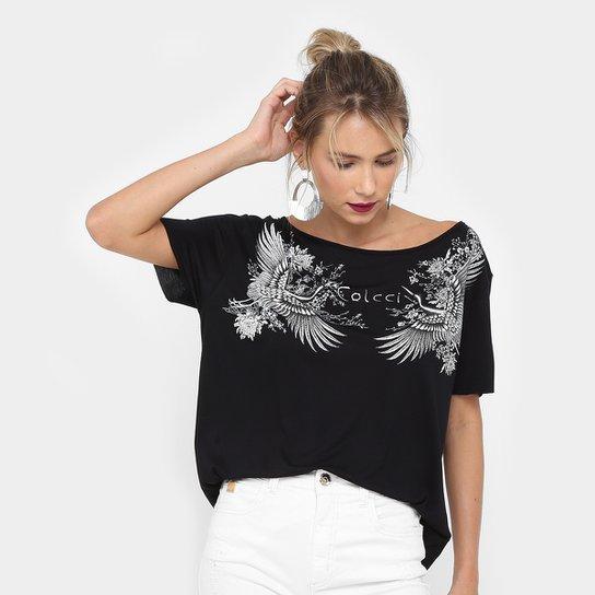 2b2dc268c2a Camiseta Colcci Pássaro Gola Canoa Feminina - Compre Agora