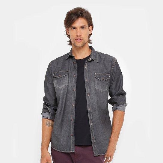 13bcc6896b Camisa Jeans Colcci Manga Longa Masculina - Compre Agora