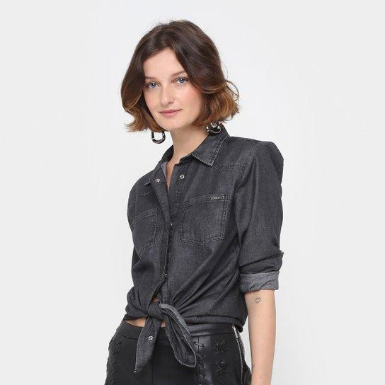 8c3d7a1f2 Camisa Jeans Colcci Manga Longa Feminina - Compre Agora | Zattini