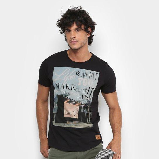 5c3907ef69 Camiseta Colcci Estampada Masculina - Preto