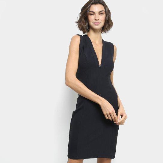 1ef09061a0 Vestido Colcci Tubinho Curto Decote V - Preto