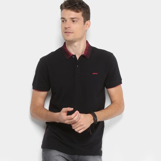 dfa6fc233c Camisa Polo Colcci Detalhe Gola Masculina - Compre Agora