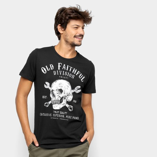 71225e39f Camiseta Colcci Caveira Masculina - Preto - Compre Agora