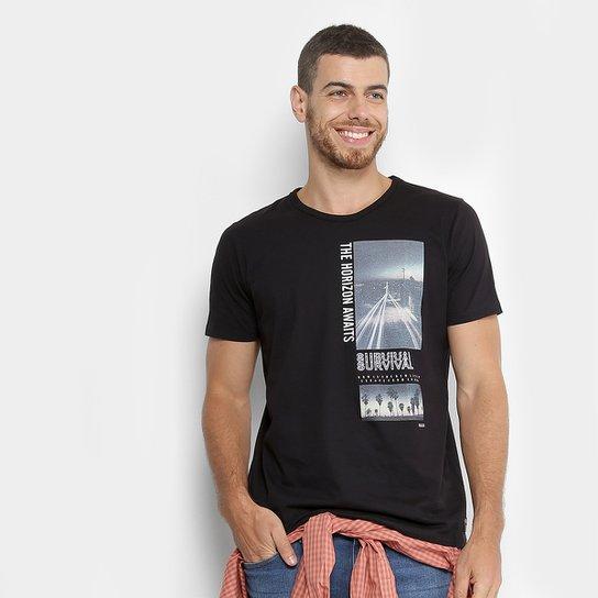 e94070b88d12c Camiseta Colcci Estampada Masculina - Preto - Compre Agora