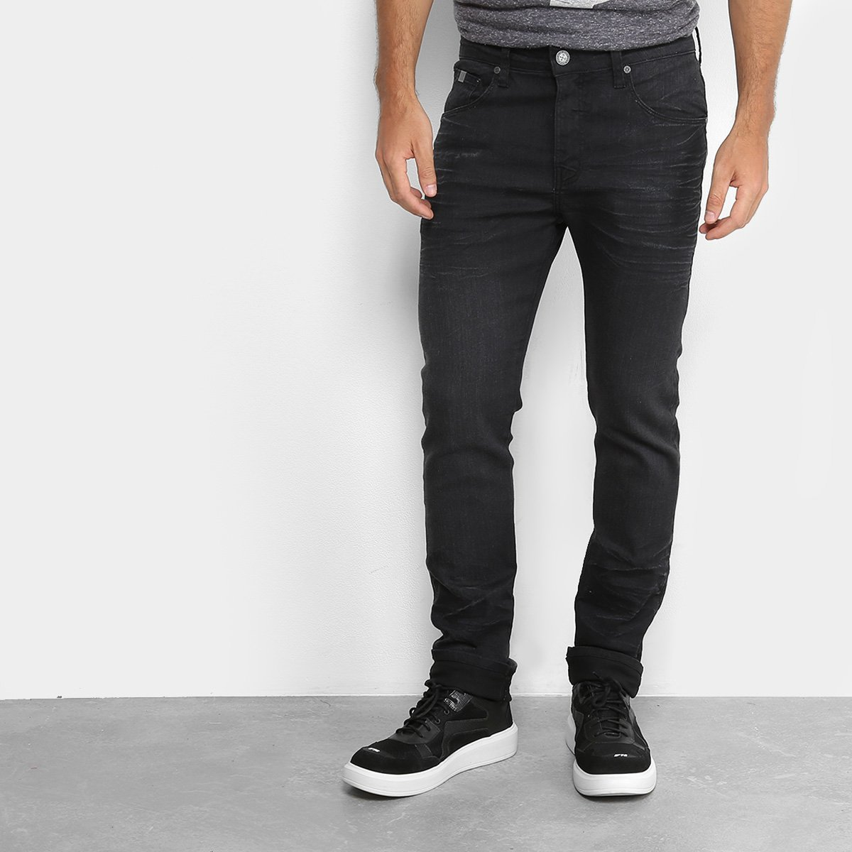 b08716ca8 Calças Jeans Skinny Colcci Rodrigo Cintura Média Masculina