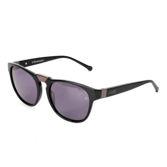 b7af6aa81 ... 54ac4e0a6b0d0 Óculos de Sol Forum F0016A0201 Metalizado Feminino -  Preto - Compre .. ...