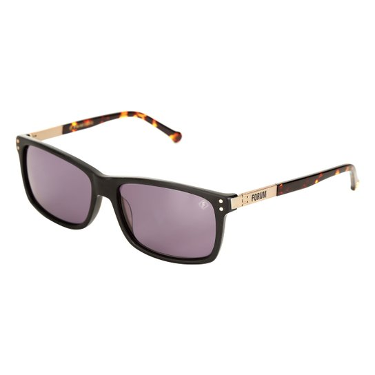 3ea2cd99f 98c639cd7d9fc Óculos de Sol de Sol Forum F0013A0403 Masculino - Preto -  Compre .