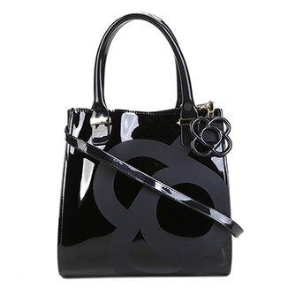 b0fadd64f Bolsa Petite Jolie Handbag Verniz Alça Transversal Folder Bag Feminina