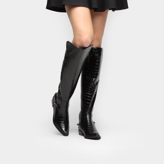 3afca7a5e Bota Capodarte Over Knee Croco Corrente - Compre Agora | Zattini