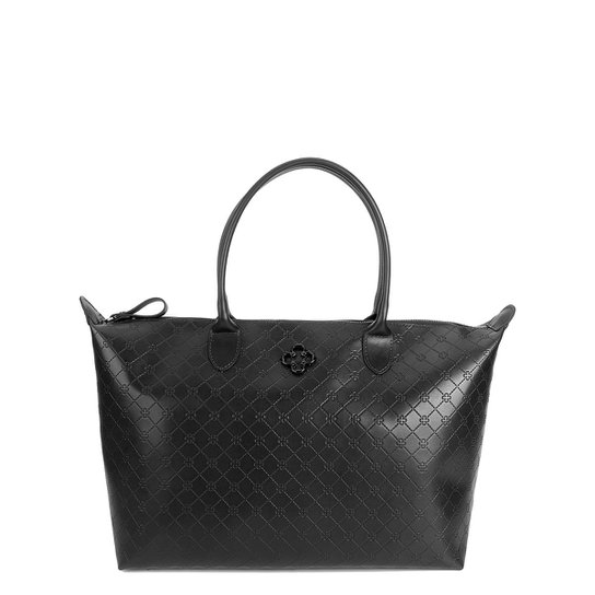 Bolsa Capodarte Shopper Monograma Feminina - Preto - Compre Agora ... 18981ed21f6