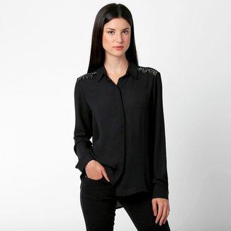 358243f79 Camisa BOBSTORE Bordada c  Recorte nas Costas