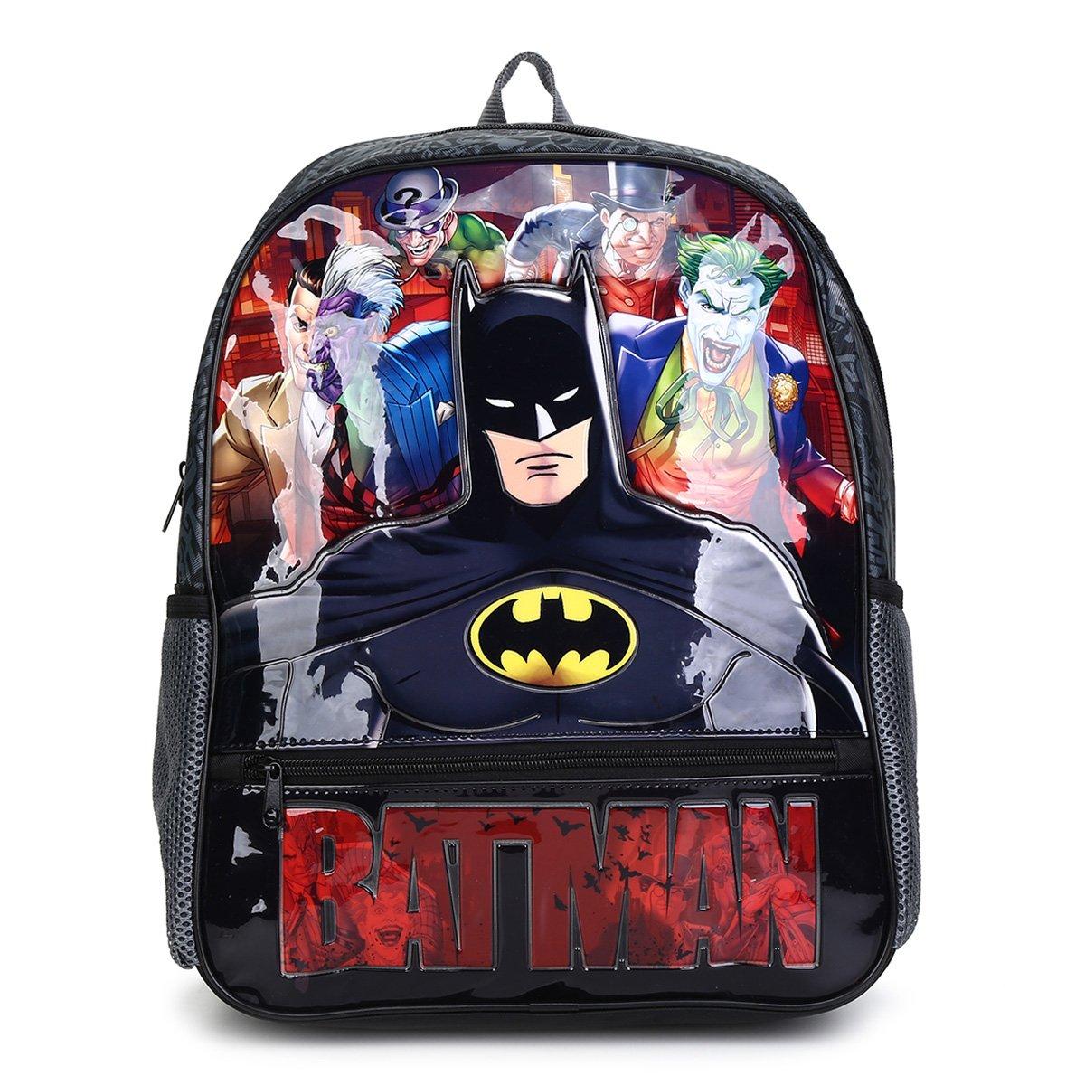Mochila Escolar Infantil Pacific Batman Danger Masculina