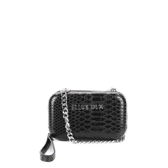 06c9e3412 Bolsa Ellus Clutch Croco Alça Corrente Feminina - Compre Agora