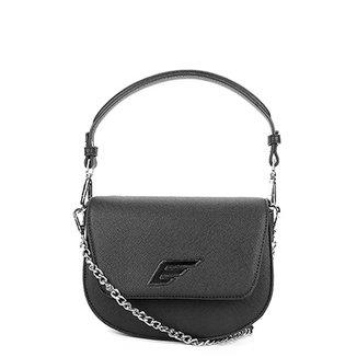 Bolsa Ellus Flap Shoulder Bag Asa Alça Meia Corrente Feminina 58da7665962