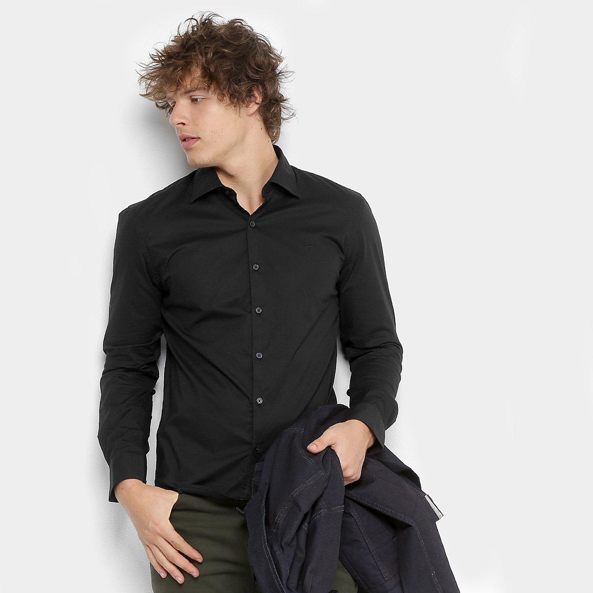 c77ac097c Camisa Ellus Tricoline Slim Manga Longa Masculina