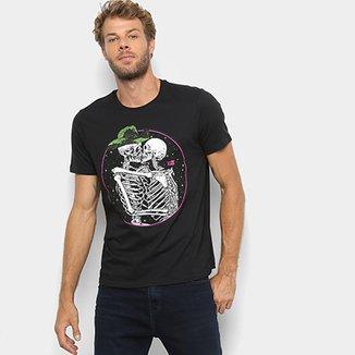 838d0c001 Camiseta Manga Curta Ellus 2nd Floor Caveiras Masculina