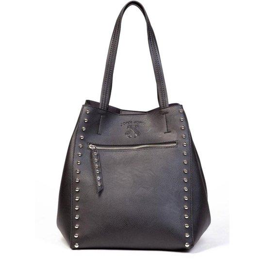 4dacc435f99 Bolsa John John Tote Rivests Black JJ Feminina - Compre Agora