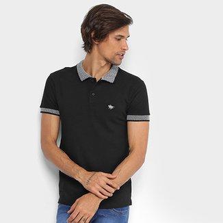 1016bf79f5e68 Camisa Polo RG 518 Lisa Gola Quadriculada Logo Metalizada Masculina