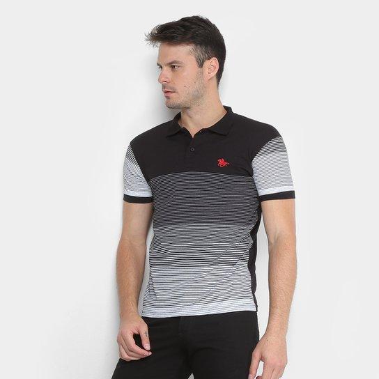 Camisa Polo RG 518 Listrada Degrade Masculina - Preto - Compre Agora ... f975c4487f6b0