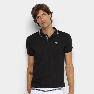 Camisa Polo RG 518 Gola Estampada Masculina cd9391e0d7f44