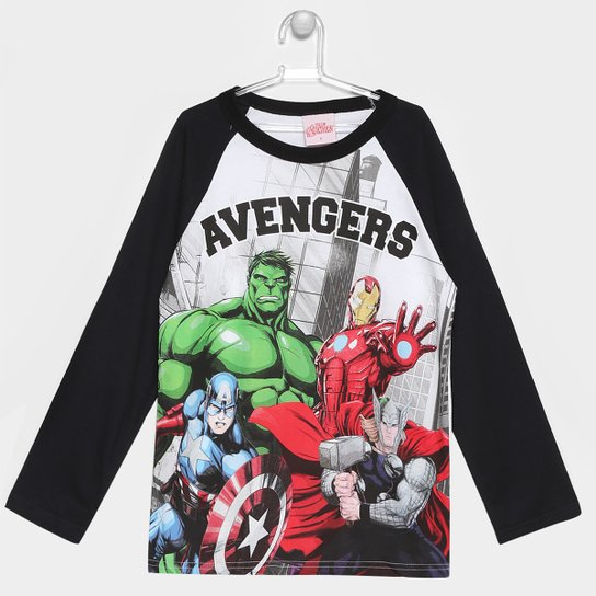 Camiseta Brandili Marvel Avengers Infantil - Compre Agora  80cc29c85a21b